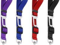4 Pack cinturon de seguridad nylon ajustable perro