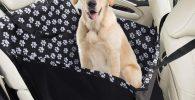 Asiento de coche con cinturon de seguridad para perro