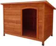 Caseta de madera tejado 1 agua para bulldog ingles 116x76x82 cm