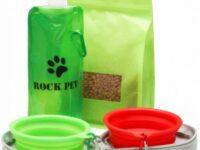Comedero y Bebedero Plegable Portatil para Perro bulldog ingles
