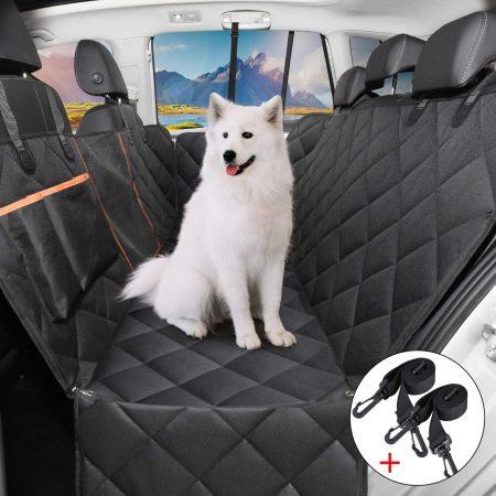 Cubierta Impermeable de Asiento para Perros con 2 cinturones de seguridad
