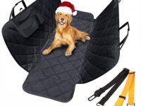 Cubierta asientos coche con 2 cinturones de seguridad para perro