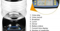 Dispensador de Comidas para perros Grabacion de Mensajes de Voz Temporizador Programable pantalla LCD