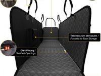 Funda Asiento trasero de Coche impermeable con Proteccion lateral Bolsa de transporte y cinturon seguridad