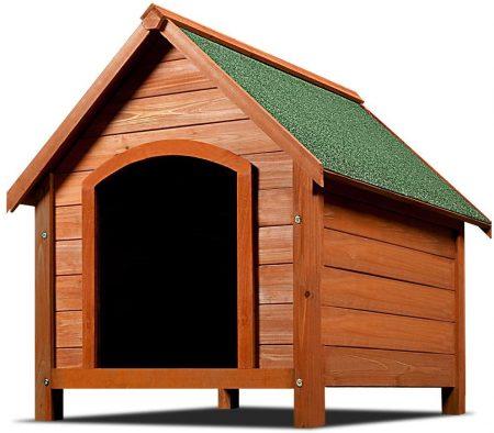 caseta de madera para perros bulldog ingles
