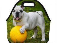 Bolsa para comida con aislamiento termico de neopreno bulldog ingles