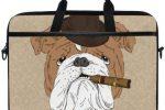 Bolsa para laptop con bulldog ingles