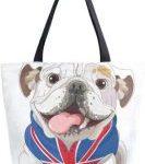 Bolso de Mano para Mujer Bulldog ingles Bandera britanica