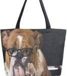 Bolso de Mano para Mujer con diseño de Bulldog ingles