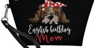 bolso maquillaje estampado perro bulldog ingles