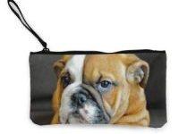 Bolso de mano monedero cachorro bulldog inglés