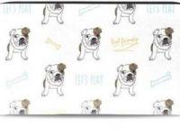 Cartera De Cuero para tarjetas con bulldog ingles
