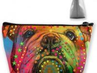 Estuche de lapices para maquillaje de bulldog ingles multicolor