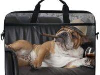 Maleta para portatil laptop 15 pulgadas con bulldog ingles gangster