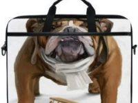 Maleta para portatil laptop 15 pulgadas con cachorro bulldog ingles aviador