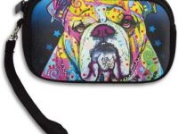 Monedero de bulldog ingles multicolor