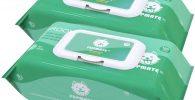 Toallitas de Cuidado Extra Humedas y Gruesas desodorizantes e hipoalergenica para perros 200uds