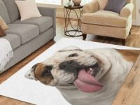 Alfombra bulldog ingles blanco para salon