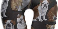 Almohada de Espuma viscoelastica para Cuello con bulldogs ingleses