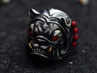 Anillo bulldog ingles de Plata de Ley S925 para Hombre