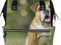 Bolsa multifunción de viaje para padres y bolsas de pañales English Bulldog Puppy