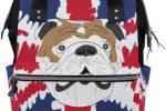 Bolso cambiador para bebe diseño de bulldog ingles y bandera UK