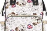 Bolso mochila para cambiar pañales de bebe con bulldogs ingleses