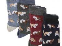 Calcetines para hombre con diseno bulldog ingles 4 uds de diferentes colores