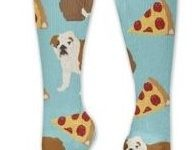 Calcetines deportivos diarios divertidos con diseño de cachorro de bulldog ingles