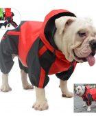 Chubasquero con capucha impermeable para bulldog ingles