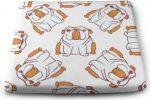 Cojin Cuadrado con diseño de Bulldog ingles sin Costuras 100% poliester