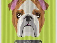 Cortina de Ducha bulldog ingles 180X180cm