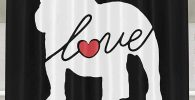 Cortina de ducha bulldog ingles love