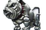 Hebilla bulldog ingles para cinturon belt buckle