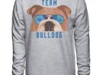 Sudadera bulldog ingles sin capucha color gris unisex