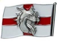 Hebilla bulldog ingles para cinturon con bandera Inglaterra english bulldog belt trucker England flag