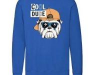 Sudadera bulldog ingles cool sin capucha color azul