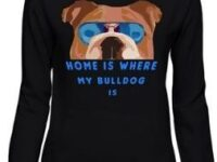 Sudadera negra bulldog ingles home con capucha para chicas