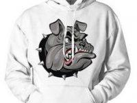 Sudadera de bulldog ingles enfadado unisex