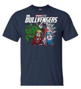 Camiseta bulldogs ingleses vengadores Marvel Bullvengers
