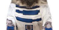 Disfraz para bulldog ingles Star Wars de R2-D2 para perros