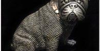 Estatua de resina de bulldog ingles