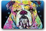 Felpudo e Bulldog ingles de colores 60x40
