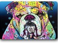 Felpudo e Bulldog ingles de colores 60x40