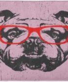 Felpudos Alfombras de bano bulldog ingles con gafas