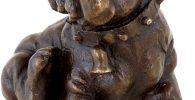 Figura de bronce de Viena bullog ingles