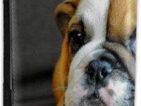 Funda Pasaporte de Cuero sintetico Bulldog ingles