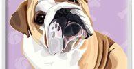 Funda Silicona para smartphone Samsung Galaxy S20 Ultra con bulldog ingles
