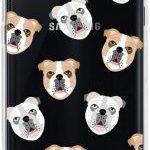 Funda negra de silicona para Samsung galxy S7 edge bulldogs