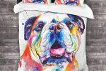 Funda nordica bulldog ingles colores ropa de cama